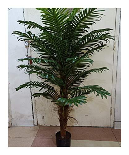 KIBILLL Simulatie Boom Nep Groene Plant 1,5 M Enkele Paal Tas Bruin Parel Zonnebloem 30 Blad Thuis Hotel Kantoor Decoratieve Plant
