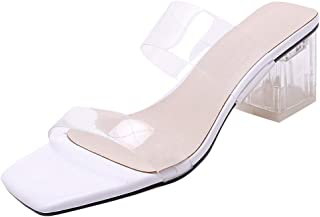 VulusValas Women Open Toe Mules Sandals