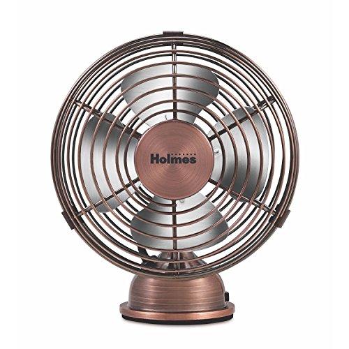 HOLMES Heritage 4-Inch Mini USB Desk Fan, Brushed Copper