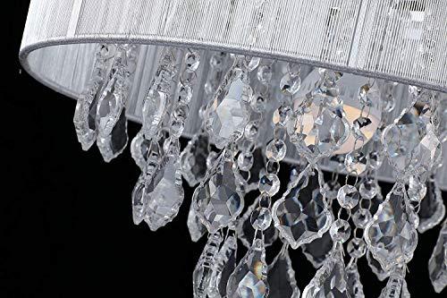 Saint Mossi Moderne K9 Kristall Regentropfen Kronleuchter Beleuchtung Unterputz LED Deckenleuchte Pendelleuchte für Esszimmer Badezimmer Schlafzimmer Wohnzimmer Breite 43 x Höhe 27 cm - 5