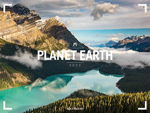 Planet Earth - Ackermann Gallery Kalender 2022, Wandkalender im Querformat (66x50 cm), Großformat, Hochwertiger Panorama-Kalender Natur und Landschaft
