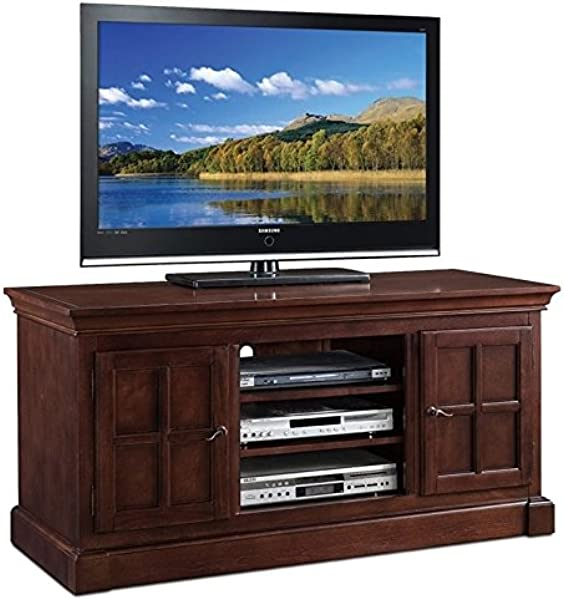 BOWERY HILL 52 TV Stand In Chocolate Cherry