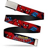 Buckle-Down uni sex adults Buckle-down Web - Spider-man 1.25' Wide Fits Up to 42' Pant Size Belt, Multicolor, 1.25 Wide Fits up 42 Pant Size US
