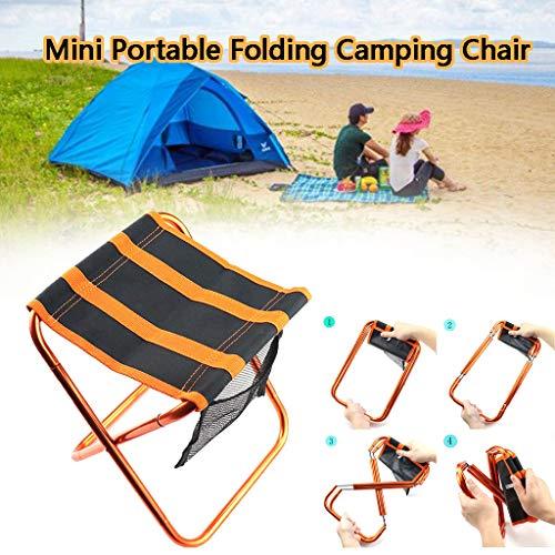 carol -1 Klapphocker Camping-Hocker Folding Chair Mini Portable Hocker für BBQ,Camping,Angeln,Reise, Wandern, Garten, Strand Terrasse, Strandstuhl Angelstuhl Klapphocker
