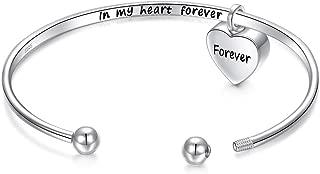 sterling silver cremation bracelet