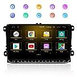 Autoradio GPS, Stereo Home 9 Pouces Navigateur GPS stéréo de Voiture pour VW, écran Tactile capacitif de Lecteur multimédia de Radio de Bluetooth, 2GB RAM 16GB ROM Android 9.0 supporte WiFi DSP