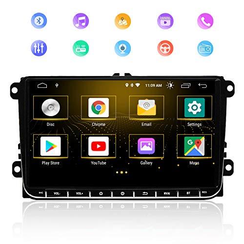 Autoradio GPS 9 Zoll Stereo Home Auto Stereo GPS Navigator für VW, Multimedia Multimedia Player Kapazitiver Touchscreen Bluetooth Radio, 2GB RAM 32GB ROM Android 9.0 Unterstützt WiFi DSP Funktion