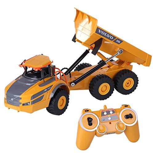HYMAN Ferngesteuertes Baufahrzeug, 2,4 G Gelenkkipper Elektronisches Ingenieurwesen Fahrzeug Spielzeug für Kinder, 40 x 12 x 12,5 cm