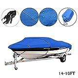 Maso, Copertura per barche resistente da 4,3-4,8 m, 210 D, con protezione UV, impermeabile, per motoscafo, fish-ski, barche con scafo a V