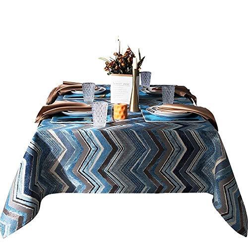 LGQBH - Mantel de tela europea, mesa retro, salón, rectangular, café, mantel, buen comer, manchas de polvo de oficina, 130x220cm