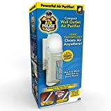 BulbHead Air Police Advanced Ionic Air Purifier, Compact Odor Eliminator Plug in Air Purifier with Permanent Stainless Steel Filter, Portable Air Purifier & Built-in Nightlight