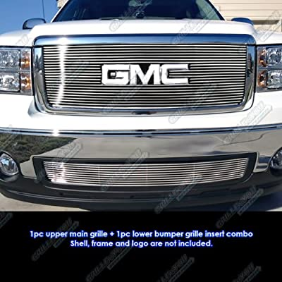 APS Compatible with 2007-2013 GMC Sierra 1500 New Body 07-10 Denali Billet Grille Grill Combo G67861A
