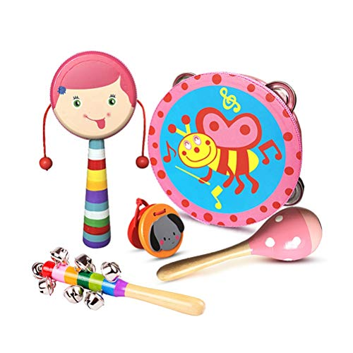 Best Price! GAO SHOP Newborn Baby Toy Set Suitable for 0-4 Years Old Boy and Girl Wooden Rattle Can ...