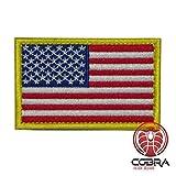 Cobra Tactical Solutions Flagge USA United States Patch Bestickt Militar Patch mit Klettverschluss für Airsoft Paintball für Taktische Rucksack Kleidung.
