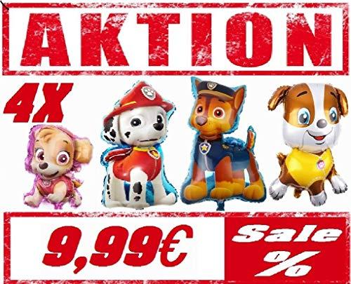 Generisch Hunde -Team-Ballon-Folienballon-Marshall-Skye-Rubble-Chase-Geburtstag XL Team- Rettungshunde Rescue Patrol