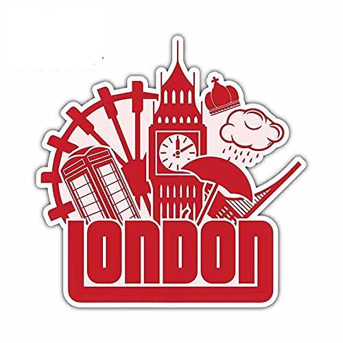 A/X 13cmx13cm Adesivi per Auto Divertenti Impermeabili Londra Regno Unito Big Ben Tower Decalcomanie in Vinile