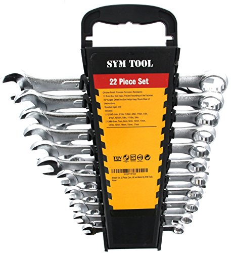 Wrench Set - 22 Piece Combo Set SAE and Metric by SYM Tools