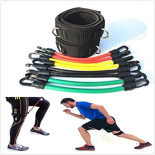YANODA Jump Geschwindigkeit Agility Training Band Bein Laufwiderstand Röhren for Alle Sportarten Fitness Kinetic Beinband Übung Training (Color : Black)