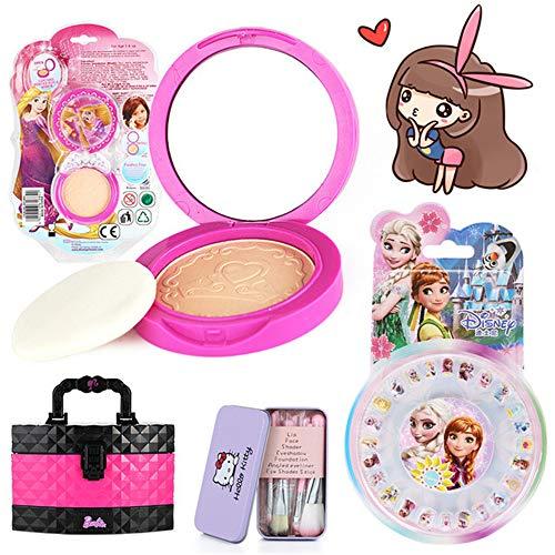 Game make-upset voor meisjes-Barbie cosmetische koffer, deze make-upspeeltjes voor meisjes bevatten alles wat je prinses nodig heeft om te spelen Aankleden wordt geleverd met een stijlvolle tas
