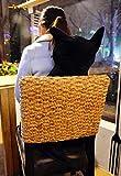 Kenmont Süße Katze Form Kissen Weichem Plüsch kissenpolster Sofa Baumwolle Plüschtiere für Haus Dekoration Entspannen Sie sich und Kinder Mädchen Geschenke (Schwarz, 45cm) - 2