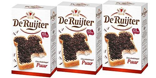 3 x De Ruijter Hagelslag Zartbitter Schokoladenstreusel 380g