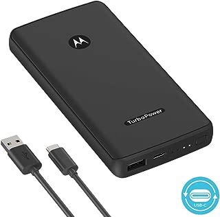Motorola TurboPower Pack 10000- Slim, Portable Power Bank w/ 18W QC3.0 + USB-PD for Moto Z,Z2,Z3,Z4,X4,G6,G7 - Fast Charge Samsung, Google, LG, More (Retail Box)