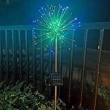 Linterna solar al aire libre solar de bricolaje fuegos artificiales luces de cadena for decoración de jardín LED cadena festivo de la Navidad Luz de lámparas solares al aire libre (Emisión de color: 1