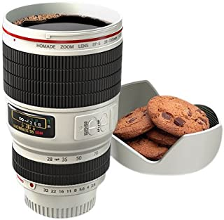 Thumbsup!! - Taza diseño de Objetivo de cámara de Fotos - Lente cámara fotográfica (Blanca)