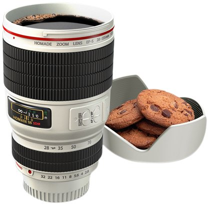 Thumbs Up - Taza, diseño de Objetivo de cámara de Fotos - Lente cámara fotográfica (Blanca)