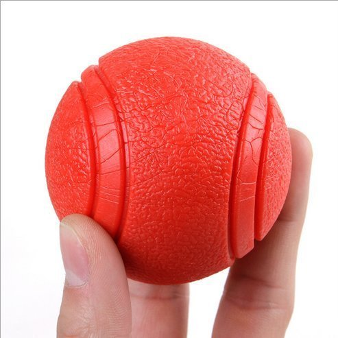 light snow Balle Rebondissante Chien – Balle Chien Indestructible –Jouet pour Grands et Petits Chiens – Ballon Chien Solide – Convient pour Chiots(S/M/L) (M, Rouge)