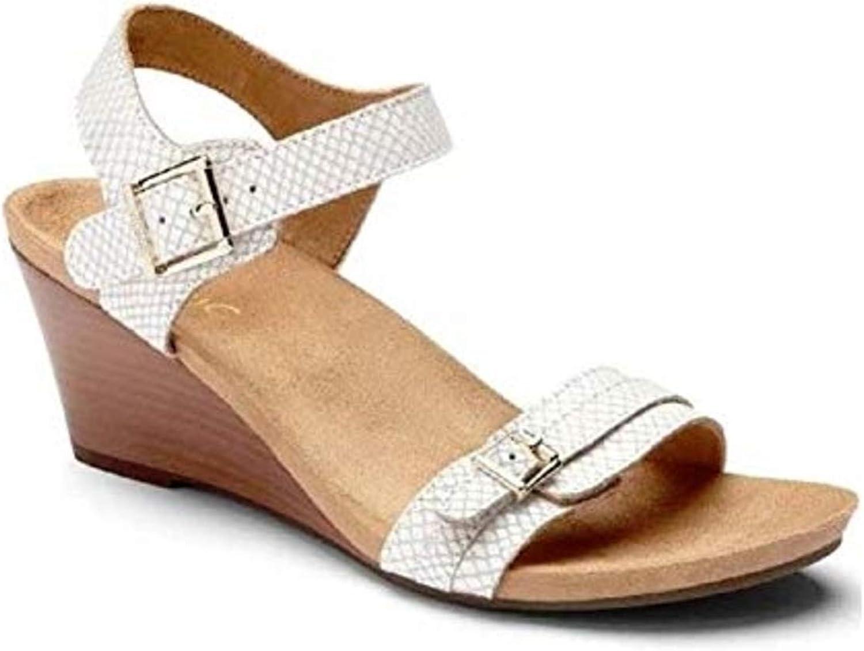 VIONIC Women's Noble Laurie White Snake Sandal