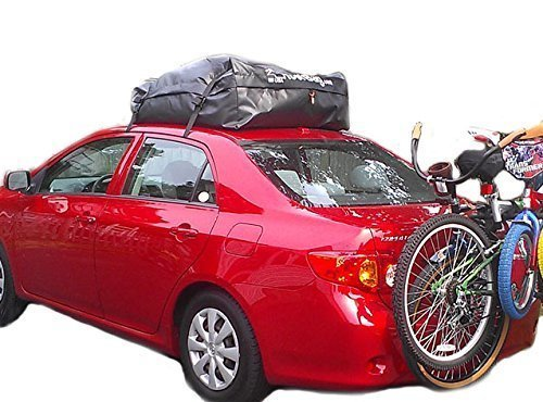 RoofBag Rooftop Cargo Carrier | Waterproof | Made in USA | 1 Year Warranty | Fits All Cars: with Side Rails, Cross Bars or No Rack | Includes Heavy Duty Straps