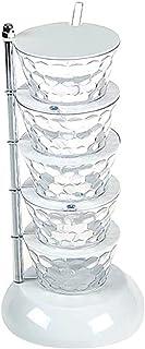 lefeindgdi Boîte d'assaisonnement verticale, multi-couches, rotative, rangement d'épices, de comptoir, organisateur rotati...