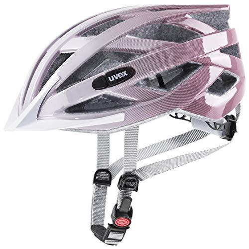 uvex Unisex– Erwachsene air Wing Fahrradhelm, White-rosé, 52-57 cm