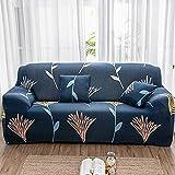 PPOS Funda de sofá Moderna Vintage Spandex Funda de sofá elástica sofá Silla Protector de Muebles de Sala de Estar Funda elástica D7 4 Asientos 235-300cm-1pc