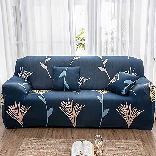 PPOS Funda de sofá Moderna Vintage Spandex Funda de sofá elástica para sofá Silla Protector de Muebles de Sala de Estar Funda elástica D7 1 Asiento 90-140cm-1pc