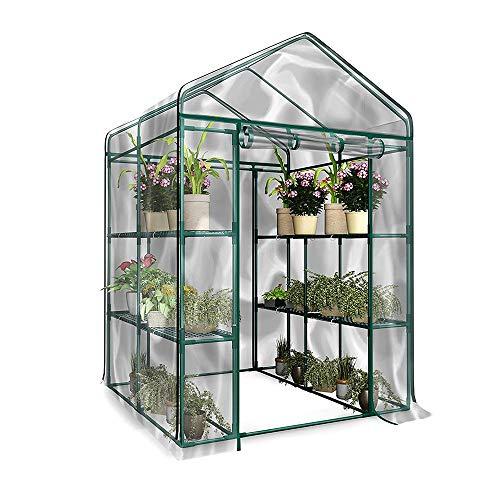 À Effet de Serre Petite Serre à Effet de Serre Polytunnel en Plastique , Plantes Mini Serre Kit-PE Jardin Walk-in Greenhouse Plant Cover