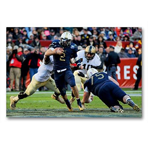 CALVENDO Premium Textil-Leinwand 90 x 60 cm Quer-Format Kickoff - American Football, Leinwanddruck von Renate Bleicher