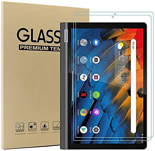 Brifu Protector de Pantalla para Lenovo Yoga Smart Tab YT-X705F, Protector de Pantalla de Vidrio, dureza 9H, Anti-Rayado, Anti-Aceite, Anti-Burbujas, Borde Redondeado 2.5D,[2 Piezas]