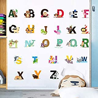 Holly LifePro Wall Decal Poster 26 Letters Wall Stickers Murals for Boys Bedroom Playroom Art Design Stickers Wall for Hom...