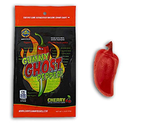 2 set.Ghost Pepper Insane overseas Heat Gummy Gho Flavored Attention brand Candy - Cherry