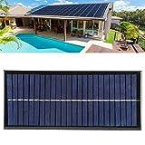 XQAQX Panel Solar, Placa Solar, Placa de Panel Solar, módulo de Cargador de Placa de Panel Solar de silicio policristalino DIY de 2,5 W 12 V para Cargar el teléfono