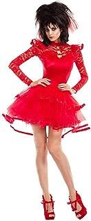 Adult Size Beetlejuice Bride Costume - Lydia Short Red Wedding Dress - 4 Sizes