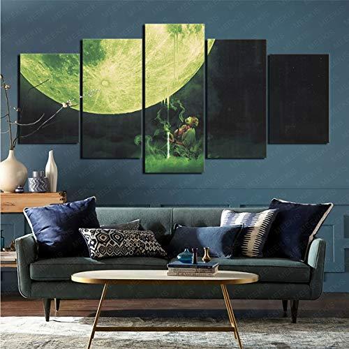 mmkow Lienzo de Artista Plano, Juego de 5 Piezas, Hombre Oscuro, Sala de Estar, Dormitorio, decoración del hogar, 100x200 cm (Marco)