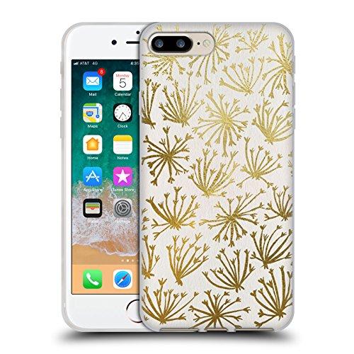 Head Case Designs Oficial Cat Coquillette Oro Blanco Queen Anne Lac Patrones 4 Carcasa de Gel de Silicona Compatible con Apple iPhone 7 Plus/iPhone 8 Plus