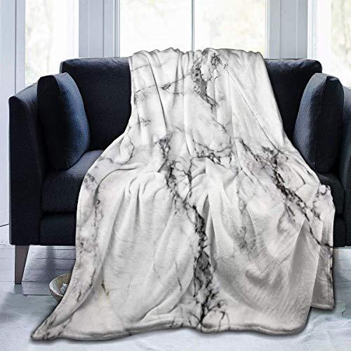 UK Plüsch Überwurf Samt Decke grau Marmor Thermo Fleece Teppich Couch Tagesdecke für Kinder Luxus Schlafmatte Pad Flanell Abdeckung für Herbst 127 x 102 cm