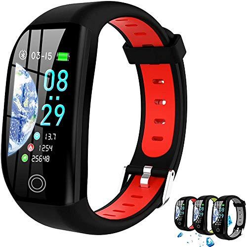 Reloj inteligente 1.4 pulgadas Smartwatch Fitness Tracker con monitor de frecuencia cardíaca presión arterial IP68 impermeable-B