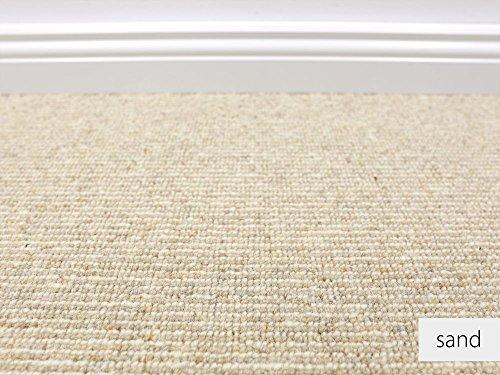 HEVO® Berber Naturfaser Kollektion - Leeds Fein Berber Teppichboden in 3 Farben - Inkl. 2% Bestellgutschein - Sand 403