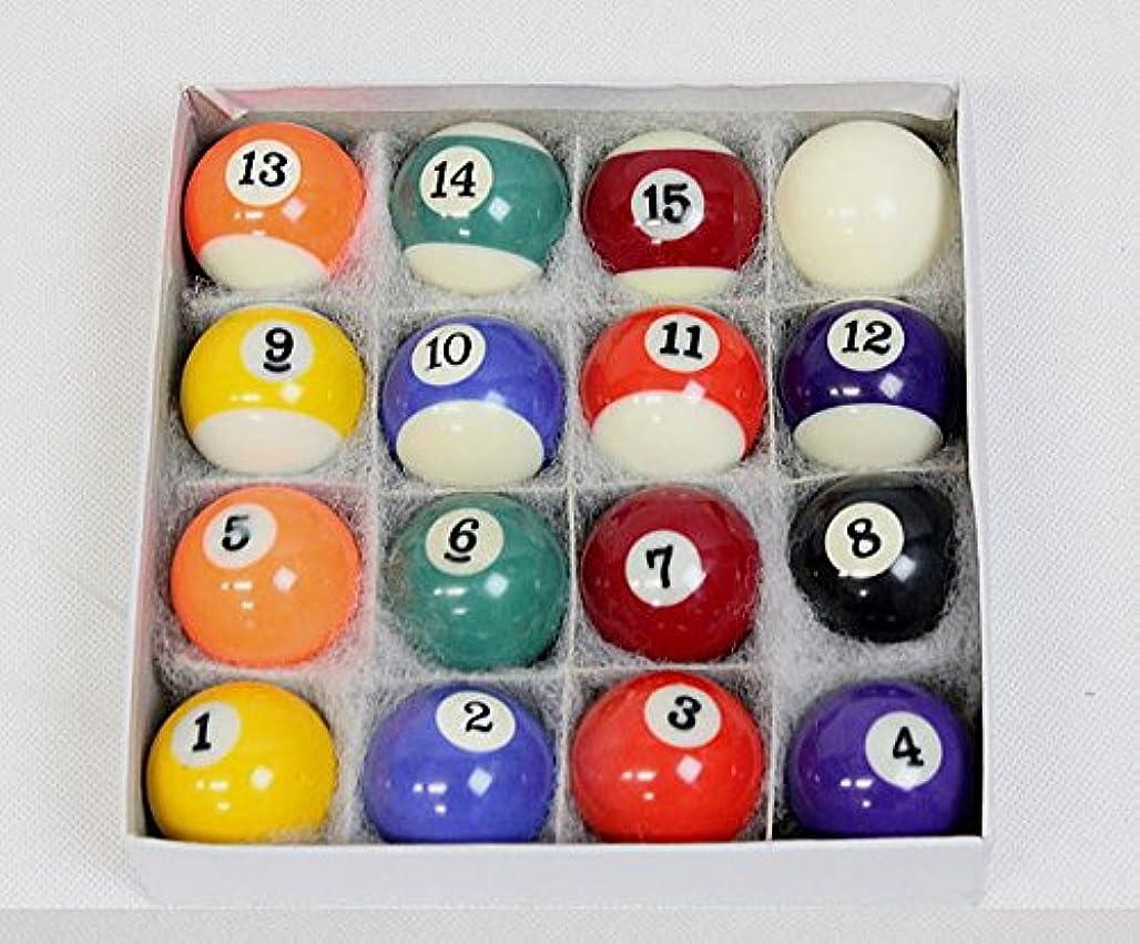 良さ西部回転させる【JUEKO】家庭用ビリヤードボール16個セット 38mm球 本物と同じ素材 同じ工場で製造 BY-3410A