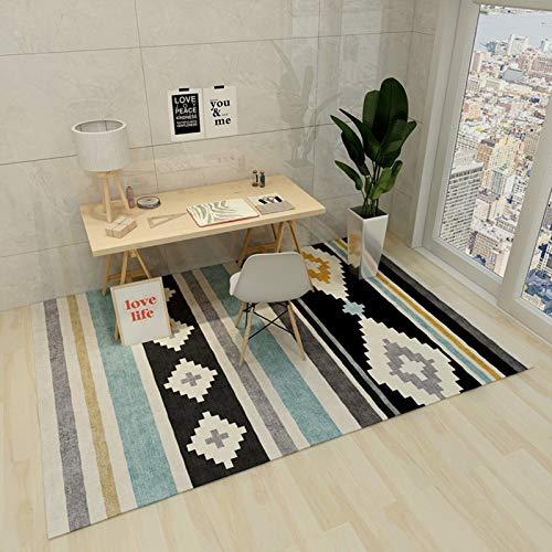 LLGHT Alfombras de Pelo Corto Salon Patrón Geométrico Suave Robusto, Antideslizante Lavable Alfombra de Dormitorio Tamaño: 140x200 Cm (Color : 1, Size : 1.8×2.5m)